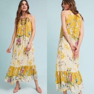 NWT Anthropologie • Printed Halter Style Maxi